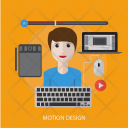 Motion Design Human Icon