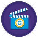 Motion Picture Copyright Clapperboard Copyright Icon