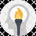 Motivation Torch Success Icon