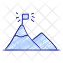 Camping Mountain Motivation Icon