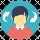 Profile Motivation Arrows Icon