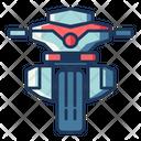 Moto Police Police Motorbike Icon
