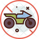 Motocycle Forbidden No Motorbike No Motor Cycle Icon