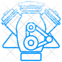 Motor Mechanic Elements Icon