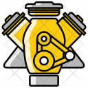 Motor Car Engine Icon