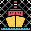 Motor Ship Vehicle Icon