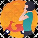 Motorbiking Icon