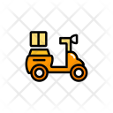 Motorcycle Bike Parcel Icon