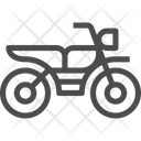 Bike Two Wheeler With Gear Vehicle Icon