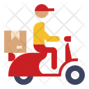 Motorcycle Bike Delivery Icon