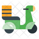 Motorcycle Delivery Scooter Delivery Scooter Icon