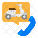 Motorcycle Rental Call Icon