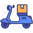 Motorcycle Delivery Order Icon