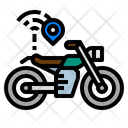 Motorcycle Tracking Icon