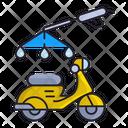 Motorcycle Wash Icon