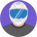 Motorcyclist People Racer Icon