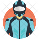 Motorcyclist Racer Biker Icon
