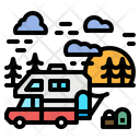 Motorhome Holiday Transportation Icon