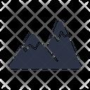 Mount Mountain Hiking Icon