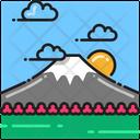 Mount Fuji Hill Japan Icon