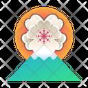 Japan Mount Fuji Sakura Icon