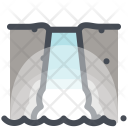 Mountain Hill Camping Icon
