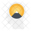 Mountain Optimism Success Icon