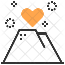 Mountain Heart Love Icon