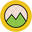 Mountain View Landscape Icon