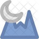 Mountain Moon Landscape Icon