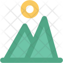 Mountain Sun Landscape Icon