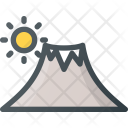 Mountain Landscape Kilimanjaro Icon