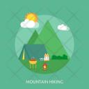 Mountain Hiking Holiday Icon