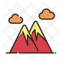Mountain Cloud Camping Place Icon