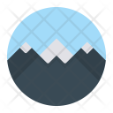 Mountain Snow Scenery Icon
