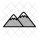 Mountain Traveling Place Travel Icon