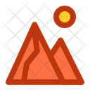 Mountain Adventure Rock Icon