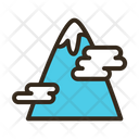 Mountain Cloud Nature Icon