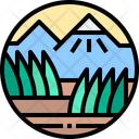 Nature Mountain Tree Icon