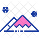 Snow Mountain Winter Icon