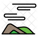 Mountain Wind Nature Icon