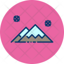 Mountain Snow Winter Icon