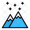 Mountain Snow Snowfall Icon