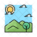 Nature Landscape Hill Icon