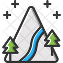 Mountain Hill Snow Icon