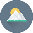 Landscape Mountain Sun Icon