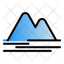 Mountain Landscape Panorama Icon