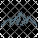 Mountain Camping Mountains Icon