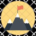 Mountain Climbing Hiking Icon