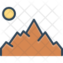 Mountain Sun Location Icon